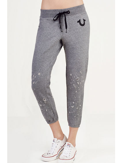 DISTRESSED WOMENS SWEATPANT