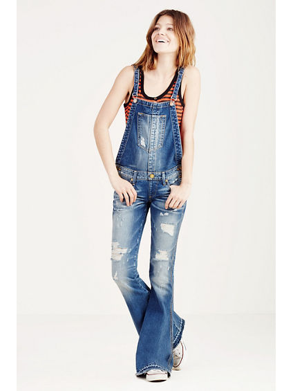 KARLIE LOW RISE BELL BOTTOM WOMENS OVERALL