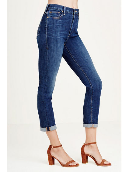 CORA STRAIGHT HIGH RISE CROPPED WOMENS JEAN