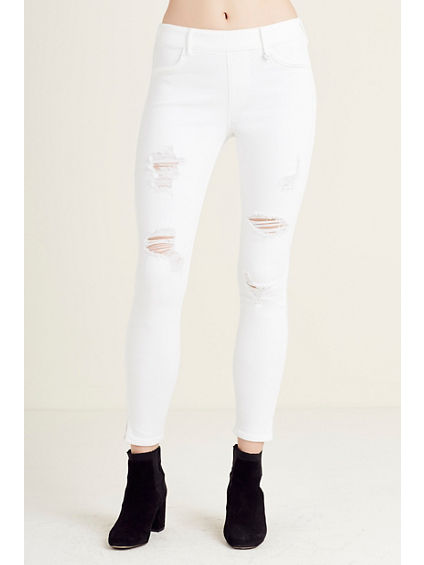 RUNWAY CROP WOMENS LEGGING