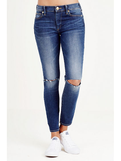 HALLE SUPER SKINNY CROP WOMENS JEAN