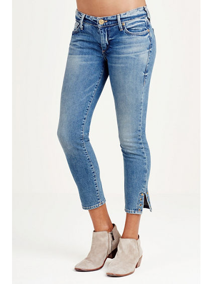 CASEY SUPER SKINNY RIVET CROP WOMENS JEAN