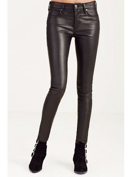 LEATHER HALLE SUPER SKINNY WOMENS PANT