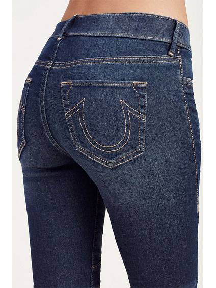 RUNWAY MOTO SHORT INSEAM FLARE - True Religion