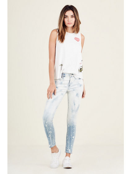 HALLE BLEACHED SUPER SKINNY WOMENS JEAN
