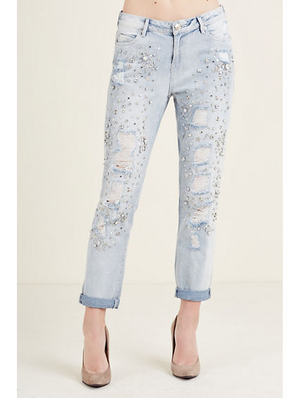 EMBELLISHED BOYFRIEND WOMENS JEAN