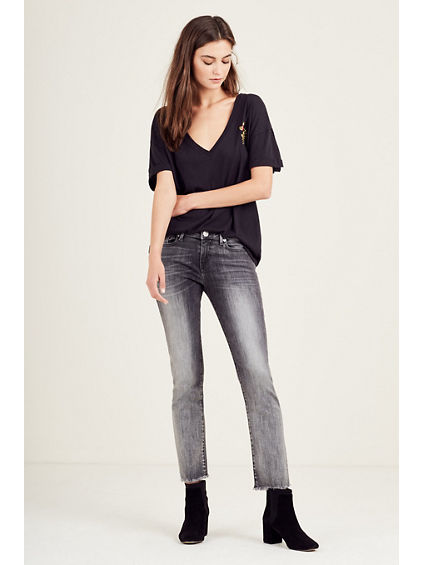 SARA CIGARETTE CROPPED WOMENS JEAN