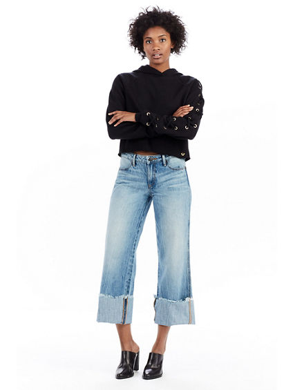 CROP CUFFED BROOKLYN WOMENS JEAN