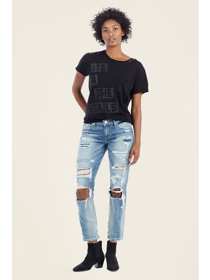 MID RISE STRAIGHT WOMENS JEAN
