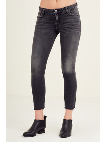 SIDE SLIT HALLE SUPER SKINNY WOMENS JEAN