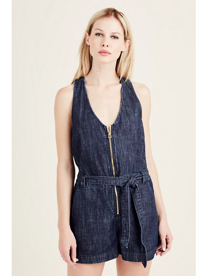 SLEEVELESS WOMENS ROMPER
