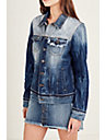 WOMENS SHADOW PATCH  DENIM JACKET