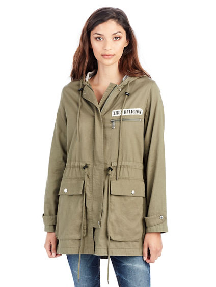 MILITARY PATCH WOMENS PARKA