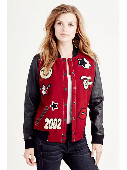 Women's True Religion Varsity Letterman Blue Wool Jacket Size Large. is New with tags! Amazing Quality Retails for $ % Authentic, purchased directly from True Religion Hudson Varsity Vintage Womens Letterman Jacket Black/Red**CHOOSE SIZE**MSRP$