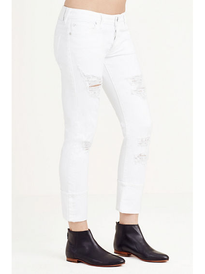 LIV EXAGGERATED CUFF RELAXED SKINNY WOMENS JEAN