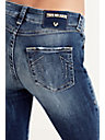 HALLE MID RISE SUPER SKINNY WOMENS JEAN