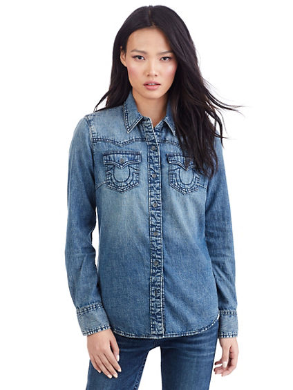 WESTERN DENIM WOMENS SHIRT