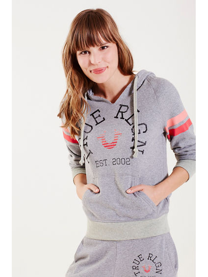 HAND PICKED RETRO LOGO WOMENS PULLOVER HOODIE