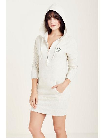 HALF ZIP HOODIE WOMENS DRESS