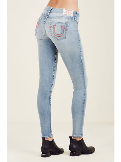 SUPER SKINNY RAINBOW HORSESHOE WOMENS JEAN