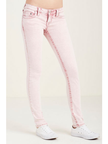 SKINNY  BIG T PINK WOMENS JEAN