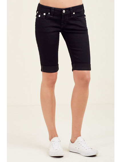 KNEE LENGTH STUD LOGO WOMENS SHORT