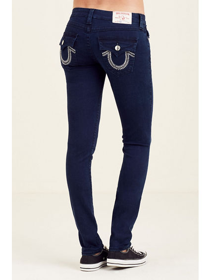 WOMEN'S SKINNY FIT STUD POCKET JEAN