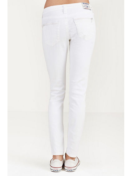 HAND PICKED SKINNY CRYSTAL ZIPPER WOMENS JEAN