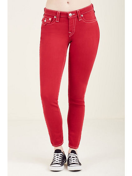 CURVY SKINNY FLAP RED WOMENS JEAN