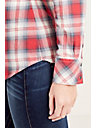 PLAID WESTERN SLIM FIT WOMENS SHIRT