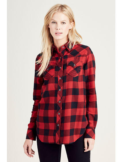 ELONGATED GEORGIA PLAID SHIRT