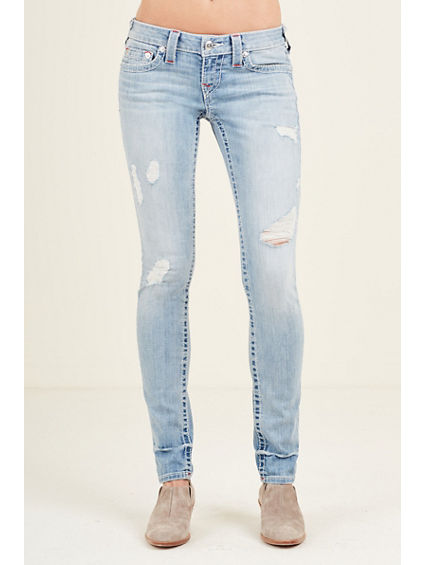 SKINNY RIPPED NATURAL BIG T WOMENS JEAN