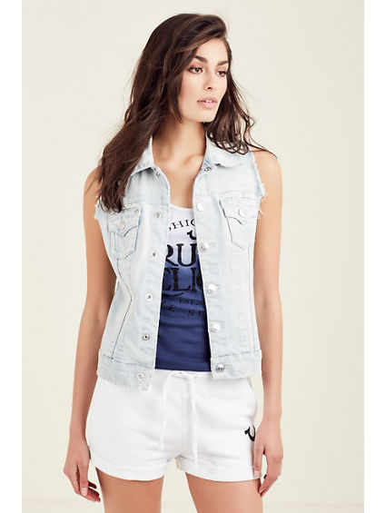 CUT OFF TRUCKER WOMENS VEST