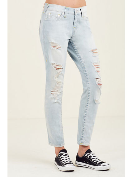 BOYFRIEND WOMENS RIPPED  JEAN