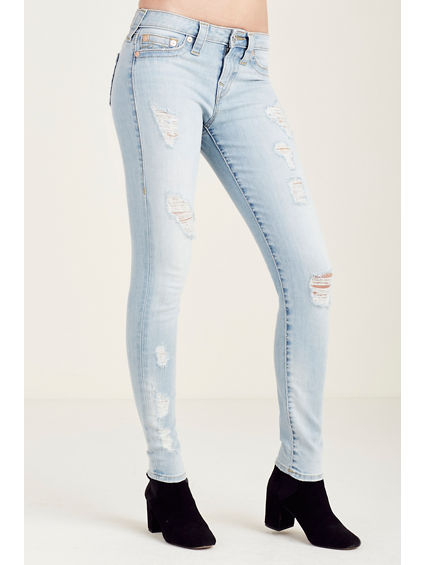 SUPER SKINNY DESTROYED WOMENS JEAN