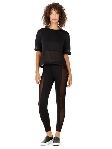 WOMENS MESH PANEL LEGGING