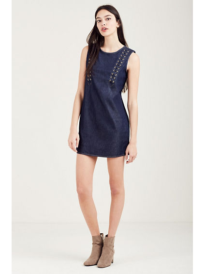 LACE UP WOMENS DRESS