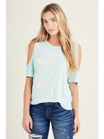 ARROW WOMENS COLD SHOULDER TEE