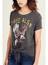 EAGLE TIE FRONT WOMENS TEE