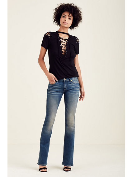 LACE UP WOMENS TEE