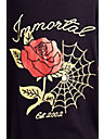 WOMENS EMBELLISHED WEB AND ROSE TEE