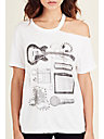 COLD SHOULDER WOMENS TEE