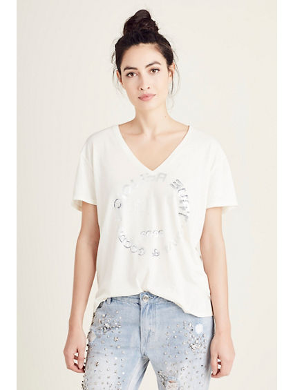 BOYFRIEND V NECK WOMENS TEE