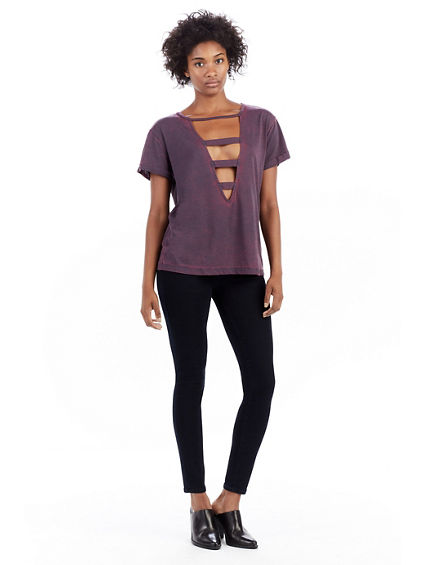 WOMENS CUT OUT TEE