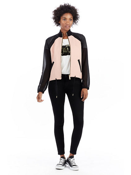 MIX MEDIA TRACK WOMENS JACKET