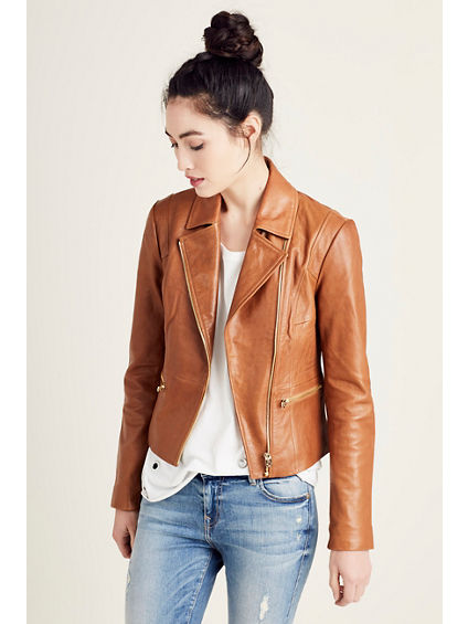 LEATHER MOTO WOMENS JACKET