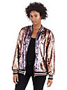 WOMENS SEQUINS PAILETTE BOMBER JACKET