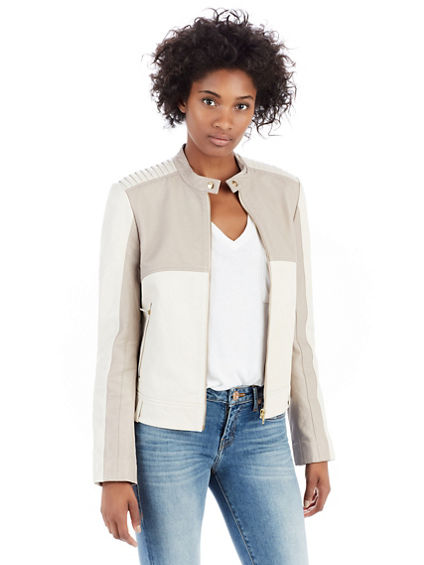 TONAL BIKER WOMENS JACKET