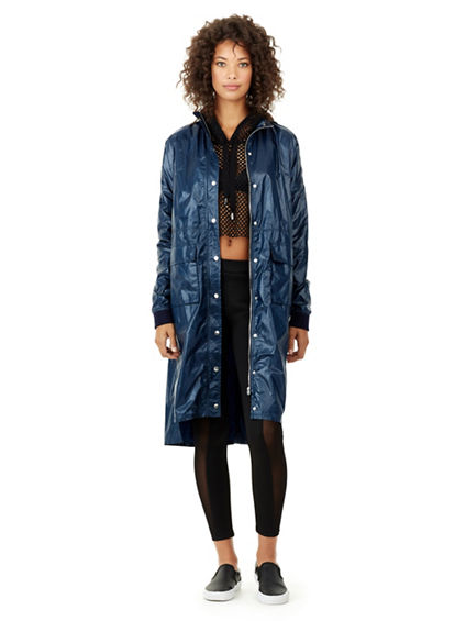 WOMENS HOODED TRENCH