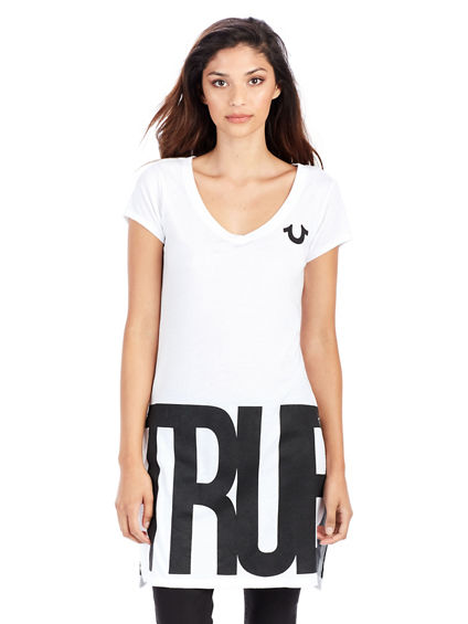 BIG TR ELONGATED SPLIT WOMENS TEE